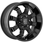 4 18 Inch Panther Offroad 579 18x9 6x45 6x55 +0mm Black Machined Wheels Rims