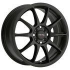4 Vision 425 Bane 15x65 4x100 4x45 +38mm Matte Black Wheels Rims 15 Inch