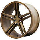 4 Verde Form VFF03 20x85 5x45 +40mm Brushed Bronze Wheels Rims