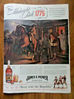1940 James E Pepper Whiskey Ad Midnight Ride 1775 Paul Revere 1940 Texaco Ad