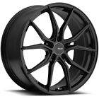 4 Advanti Racing 80B Hybris 18x8 5x45 +45mm Gloss Black Wheels Rims 18 Inch