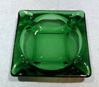 Medium Square Ashtray Forest Green by Anchor Hocking
