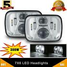 Pair 7x6 300W LED Headlight Hi/Lo Beam for Jeep Wrangler YJ Cherokee XJ 6053 5x7