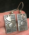 Vintage MAG Sterling Silver Earrings Signed North west coast Native American 925