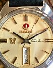 Beautiful Vintage Rado Golden Horse Automatic Day Date SS Stunning Gold Dial
