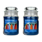 2 Yankee Candle Catch A Wave 19oz Large Glass Jar Scented Fragrance 538g