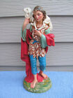 Vintage Fontanini Italy Nativity 12 Set Paper Mache Sheperd Boy Figurine