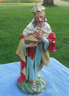 Vintage Fontanini Nativity 12 Set King Paper Mache Figurine Italy