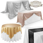 Sequin Sparkly Table Covers Wedding Party Linens Tablecloths Runners Overlays