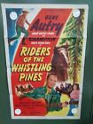 1949 RIDERS OF THE WHISTLING PINES One Sheet Poster 27x41 Gene Autry WESTERN