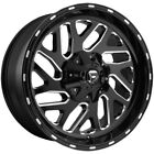 4 Fuel D581 Triton 18x9 5x45 5x5 12mm Black Milled Wheels Rims 18 Inch