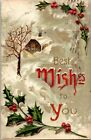 VINTAGE POSTCARD POSTMARKED 1910 BEST WISHES TO YOU
