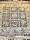 QUALITY HAND KNOTTED CHINESE 100 SILK SQUARE RUG  495