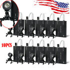 1-10pc Portable Black Led Head Light Lamp W Clip On For Dental Surgical Loupes