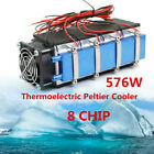 8 Chip Thermoelectric Peltier Refrigeration Cooling System Kit Cooler Devices