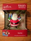 RUDOLPH the Red Nosed Reindeer~SANTA~HALLMARK Ornament~Red Box~NEW in Pkg. 2018