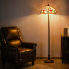 Tiffany Style Victorian 2 Light Floor Lamp w 18 Stained Glass Shade Decoration