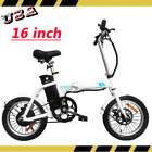 Folding Electric Bike 16 Inch 36V 8Ah Lithium Battery Collapsible Ebike White US