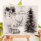 Christmas Tree Deer Clear Stamps Rubber Stamps Paper Craft Scrapbooking DIY