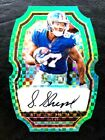 2017 Select Green Xfractor Die Cut Autograph Sterling Shepard Auto 5 5 1 1