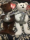 TY Beanie Babies Hershey's Kisses Hugsy and Cocoa Bean Plush toys NEW!