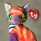 Ty Beanie Baby: Kaleidoscope the Cat Rare Retired Gorgeous Multi Color Cat w/Tag