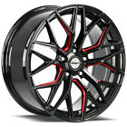 4 Shift Spring 18x8 5x45 +35mm Black Milled Red Wheels Rims 18 Inch