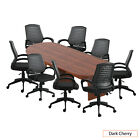 Gof 10 Ft Conference Table Chairg10902b Set-cherryespresso Mahoganywalnut