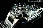 Invicta 39mm Marvel Bolt PUNISHER Limited Ed Black Silver Stainless Steel Watch