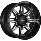 4 16x8 Black Machined Wheel Ultra Menace 229 5x45 5x5 10