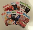 10 WEIGHT WATCHERS Weekly Guide Books Aug 2014 Nov 2014 With Recipes