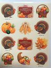 Happy Thanksgiving Stickers Sheet Vtg Hallmark Mint Combined Ship Available