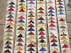 HUGE LOT Flying Geese Quilt Strips Block Native American Indian Southwest Cowboy