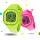 Teen Boys Girls Digital LED Electronic Date Square Multifunction Wrist StopWatch