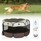 Foldable Pet Dog Cat Play Tent Playpen Exercise Cage Fence Mesh Cover HC
