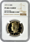 1971 S 50c Proof Kennedy Half Dollar NGC PF 68 Star Cameo