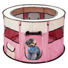 45 Pet Dog Kennel Fence Puppy Playpen Exercise Pen Portable Folding Crate Pink