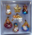 Dept 56 Nativity Christmas Glass Ornaments Madonna Child Joseph Star Angel Kings