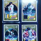 2005 UD Baseball Heroes 4 Card Lot:Boggs, Yount, Seaver, Molitor GU Patch + Auto