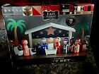 FAO SCHWARZ REMARKABLE 15 PIECE WOODEN NATIVITY SET WITH MANGER ANIMALS MINT