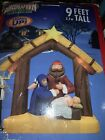 New Gemmy Christmas Airblown Inflatable 9 Ft Nativity Scene