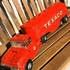 Vintage Buddy L Texaco Gas Oil Tanker Truck & Trailer Pressed Steel Toy Moline