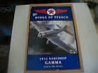 WINGS of TEXACO 1932 NORTHROP GAMMA DIE-CAST METAL LOCKING COIN BANK