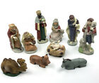 Christmas Nativity Set 11 pc Porcelain Figurines 4in to 6in Religious Holiday