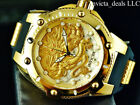 Invicta Men's 52mm Bolt SPEEDWAY DRAGON Automatic 18K Gold Plated SS Strap Watch