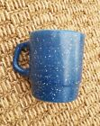 Vintage FIRE KING Granite Ware BLUE  Speckled stackable Coffee MUG