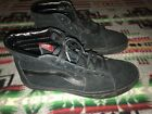 Vans Black Leather Suede Skate Mens Size 105 Womens Size 12 Unisex