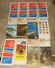 1960's 70's Vintage United States Road Maps Sunoco, Rand Mcnally Shell Lot of 12
