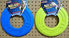 NERF DOG ATOMIC FLYER 10 Rubber Dog Puppy Toss Fetch Toy Blue or Yellow