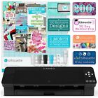 Silhouette Black Cameo 4 w Updated Autoblade 3x Speed Roll Feeder and More